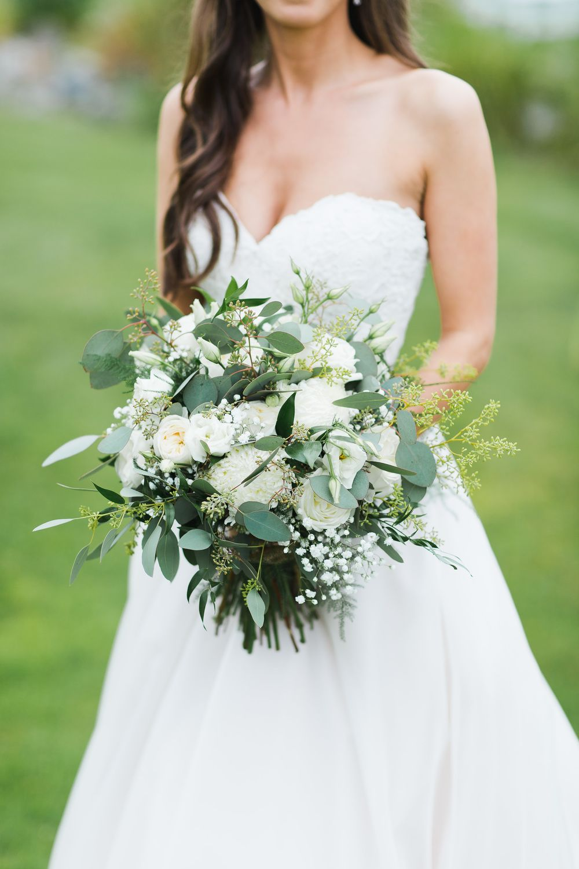 Lauren And Andrew Rose Bridal Bouquet Gypsophila Wedding Rose