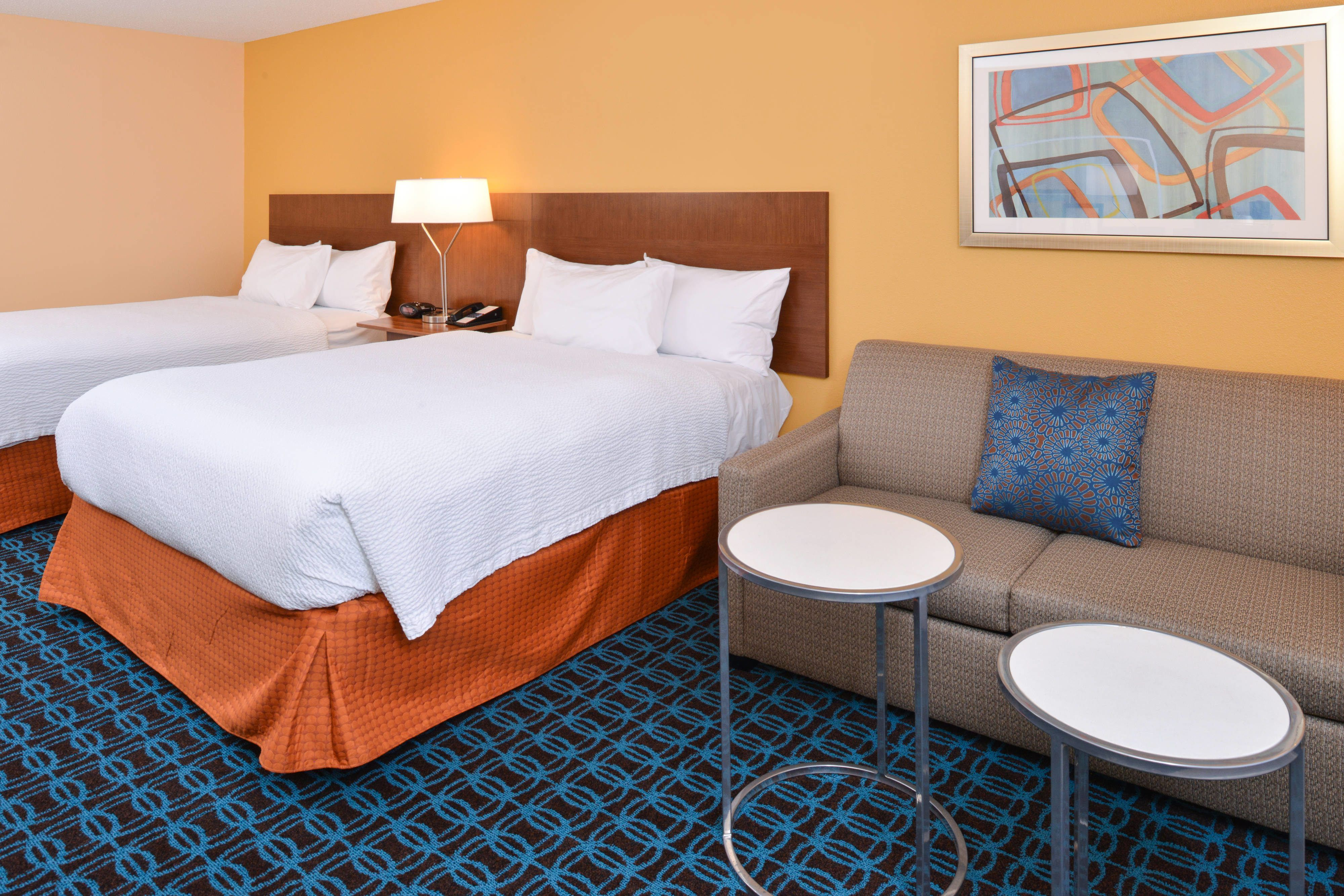 Fairfield Inn Orlando Airport Queen Queen Guest Room With Sofa Bed Suite Travel Hotels Fairfield Inn Orlando Airport Home Decor