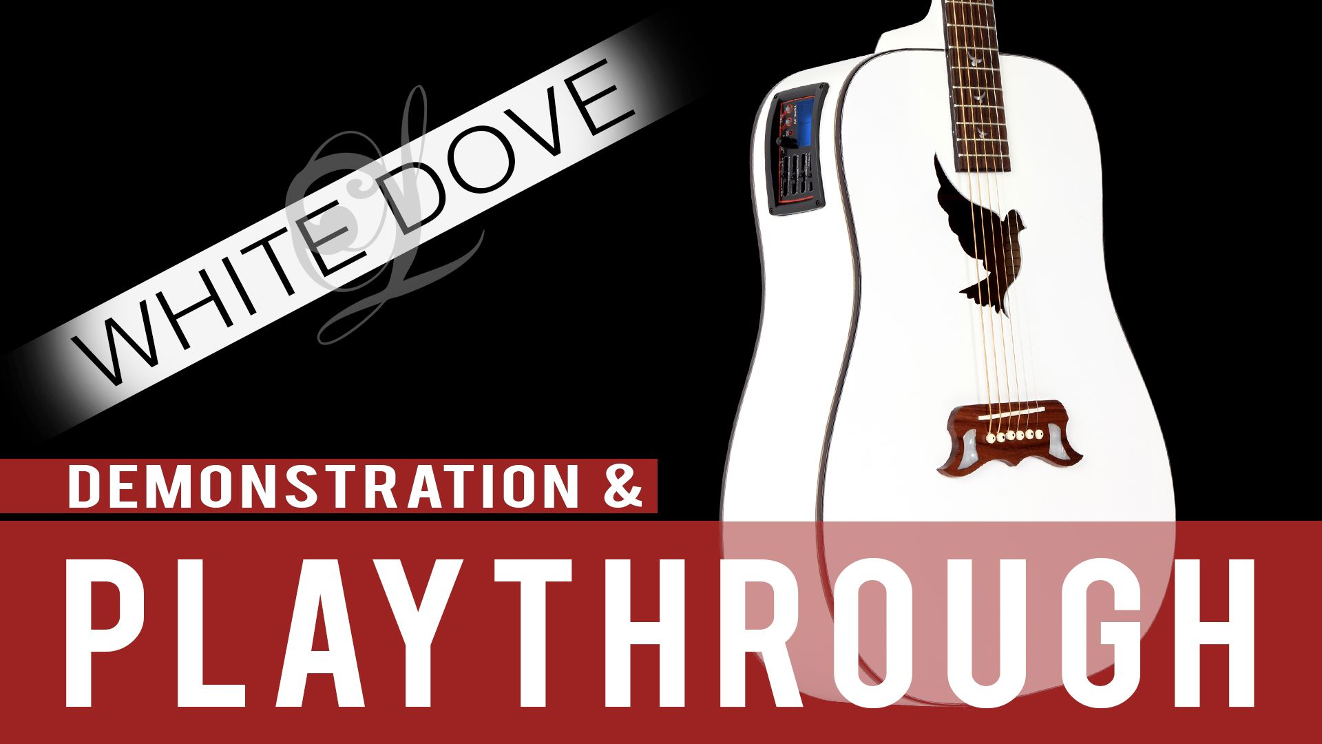 Lindo White Dove Electro Acoustic Guitar Demonstration Playthrough Tone Demo Electro Acoustic Guitar White Doves Acoustic