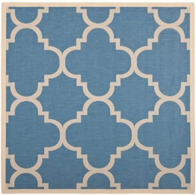 Safavieh Courtyard Blue/Beige 6 ft. 7 in. x 6 ft. 7 in. Square Area Rug - CY6243-243-7SQ - The Home Depot