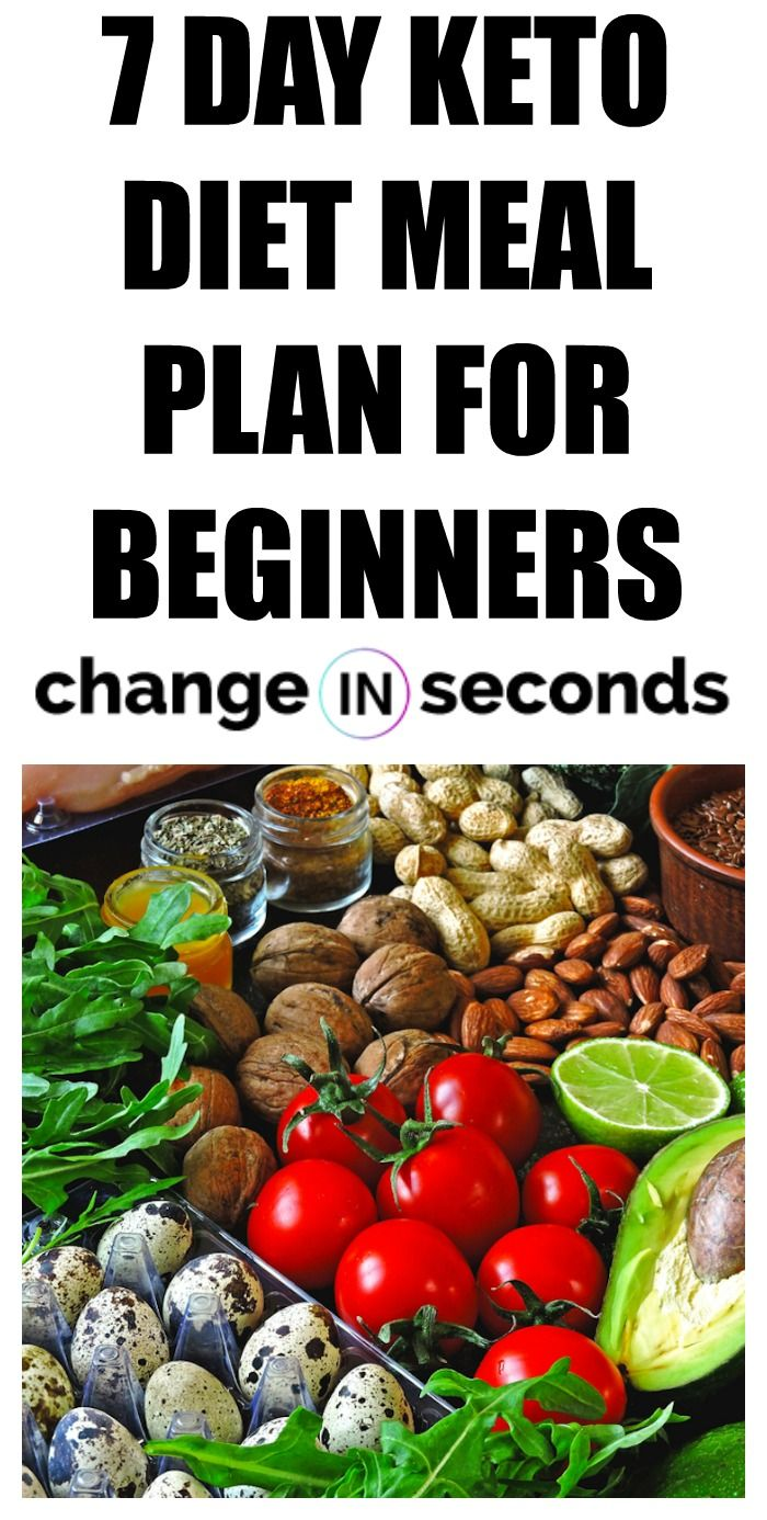 7 Day Keto Diet Meal Plan For Beginners (Download PDF ...