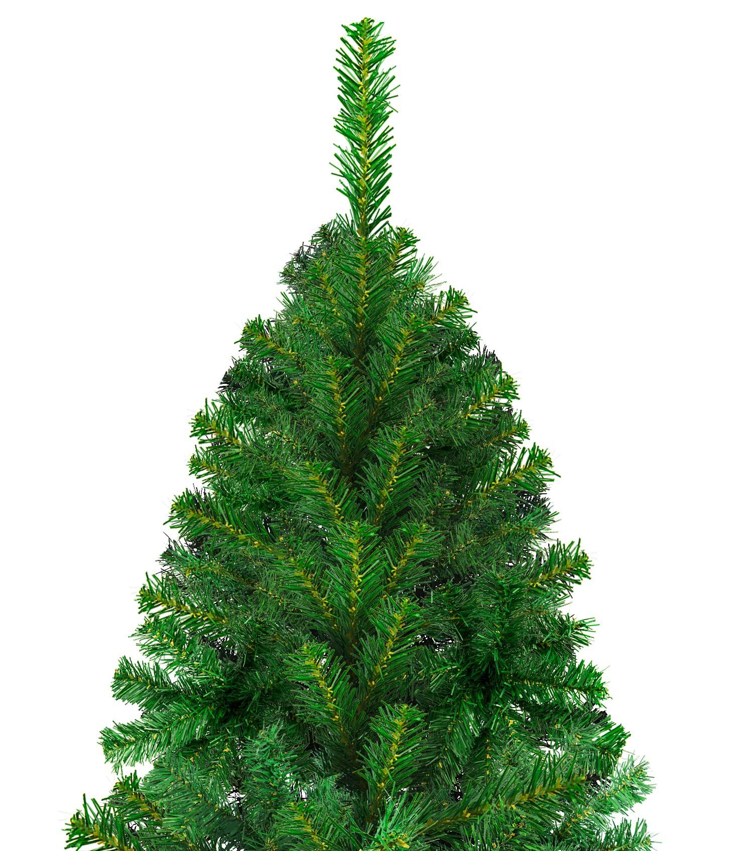 Luter 7 5 Ft Artificial Christmas Tree Spruce Hinged Xmas Tree Christmas Decorations For Indoor And O Artificial Christmas Tree Xmas Tree Christmas Decorations