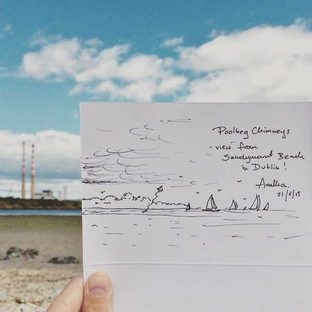 It Was Quiet On The Beach So I Added Some Boats Beach Sandymount Dublin Ireland Sea Sand Summer Drawing Pen Beach Instagram Posts Sketch Book