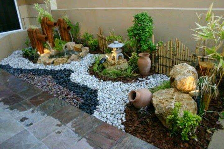 Decoracion de jardines peque os rusticos buscar con for Jardines pequenos esquineros