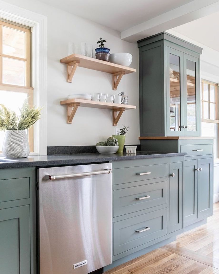 What Kind Of Paint To Use For Kitchen Cabinets: This Kitchen Is Retreat By Sherwin Williams