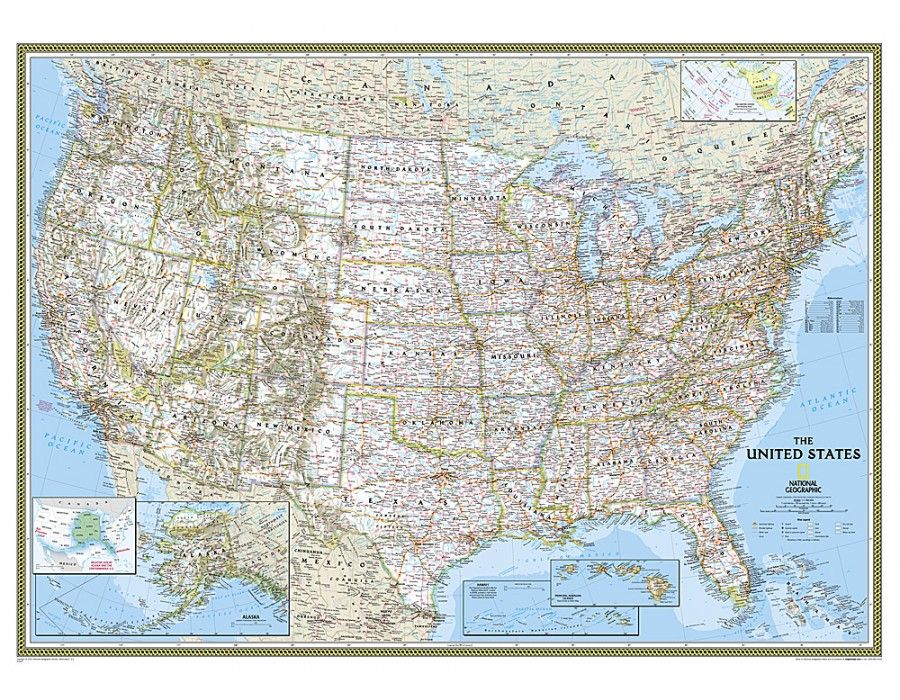 Buy United States Classic Wal Map Mural United States Map Wall - Us electoral wall map giant printable