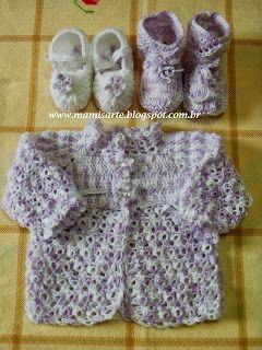 Olá!  Para quem conhece este ponto de crochet já sabe porque dei este nome ao casaquinho!  Desenvolvi este modelo e gostei muito de tecê-lo....
