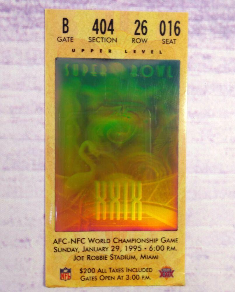 1995 Bowl Chargers Hologram 49ers XXIX Original vs Super