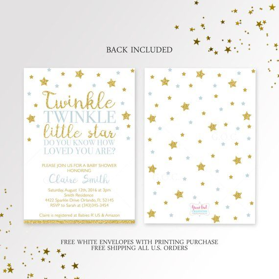 photo relating to Free Printable Twinkle Twinkle Little Star Baby Shower Invitations named Twinkle Twinkle Small Star Child Shower Invitation, Posted