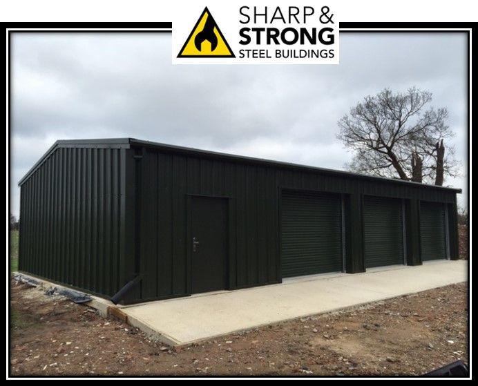 Best Steel Framed Garage Workshop Building Recently Erected In 400 x 300
