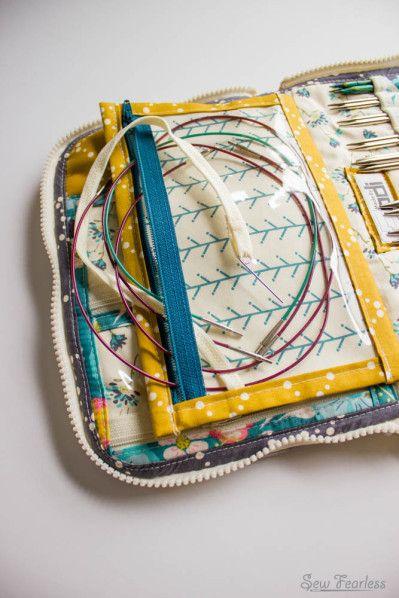 Leather Interchangeable Knitting Needle Case   Knitting ...