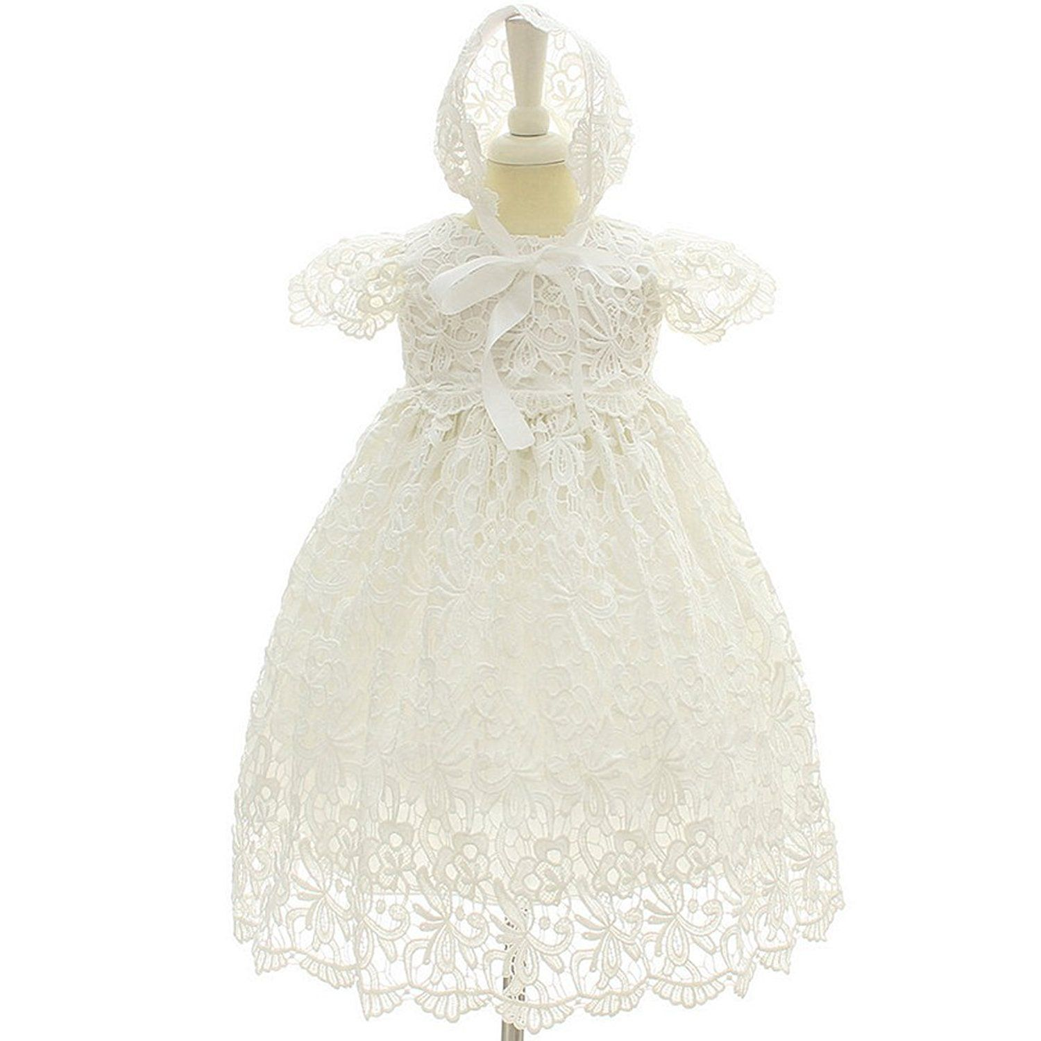 Dreamy Lantana Baby Girl Long Christening Dresses Baptism Gowns with