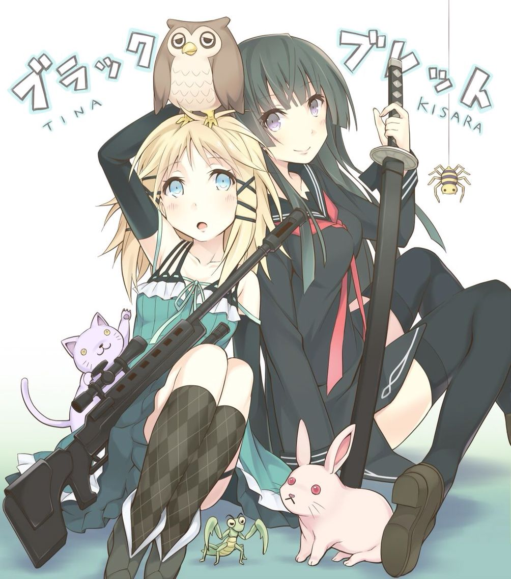 tina sprout and kisara tendo | black bullet | pinterest | sprouts