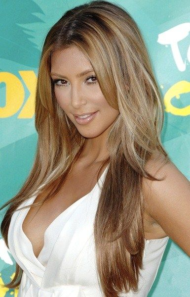 kim kardashian hair blonde highlights google search