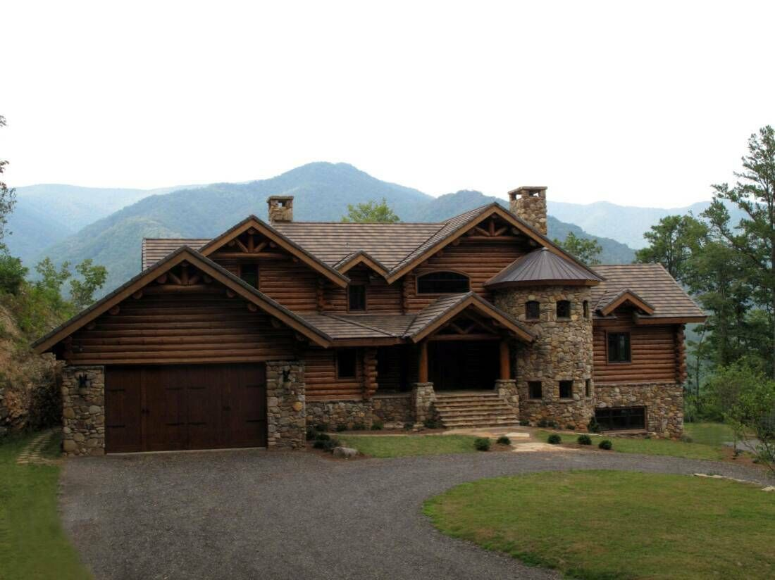 Image gallery luxury mountain log homes for Luxury homes in alaska