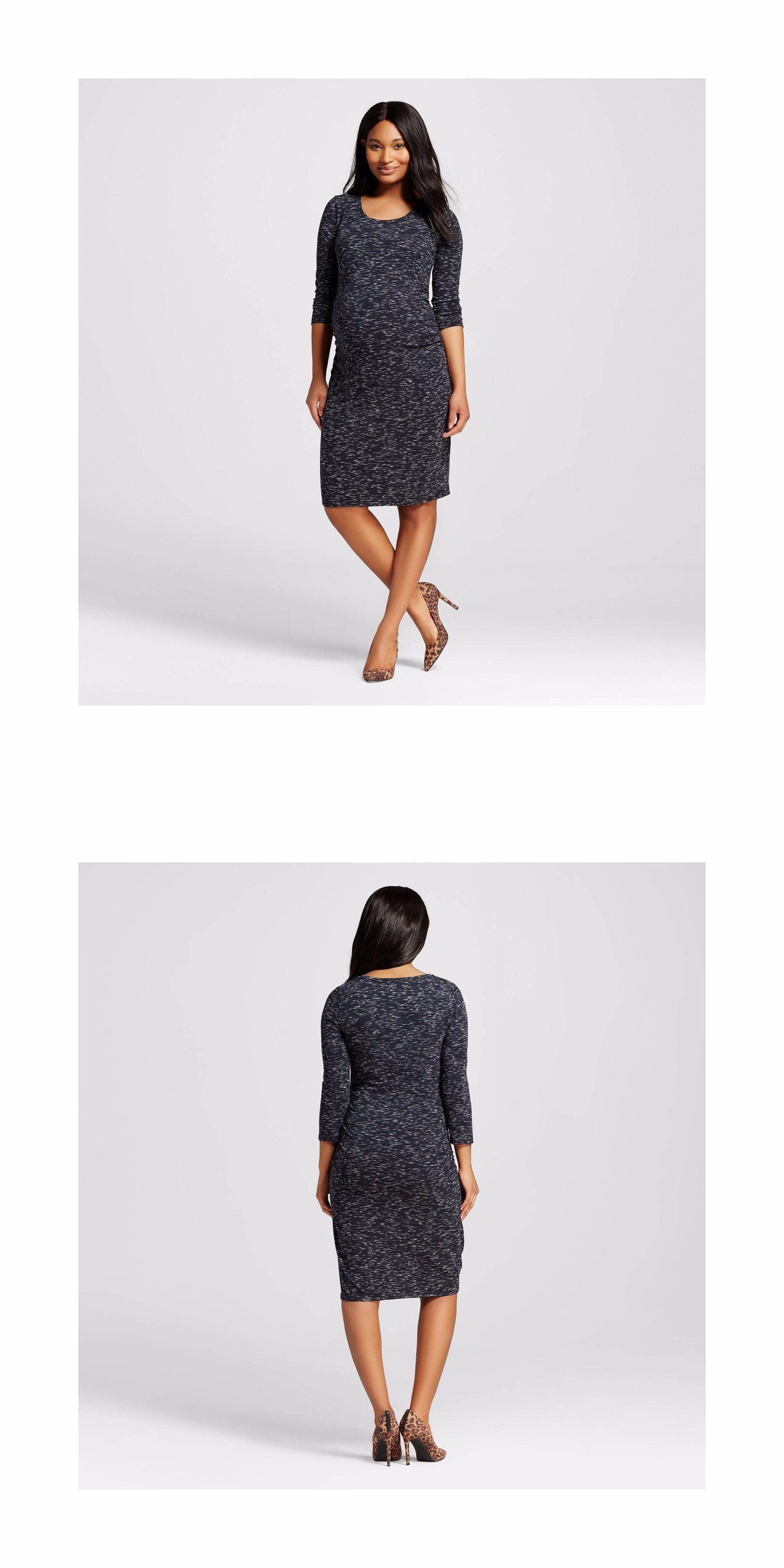 e4d3445bbdd64 Dresses 11534: Sexy Liz Lange Maternity Black Spacedye Sleeve T-Shirt Dress  S M L Xl -> BUY IT NOW ONLY: $11.54 on #eBay #dresses #lange #maternity  #black ...