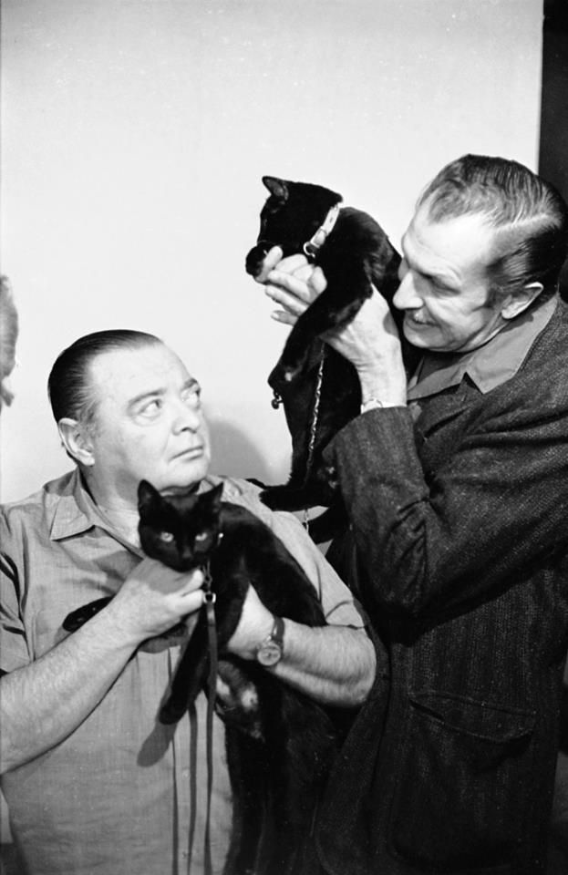 Peter Lorre And Vincent Price In The Audition For The Black Cat - Rare celebrity auditions famous