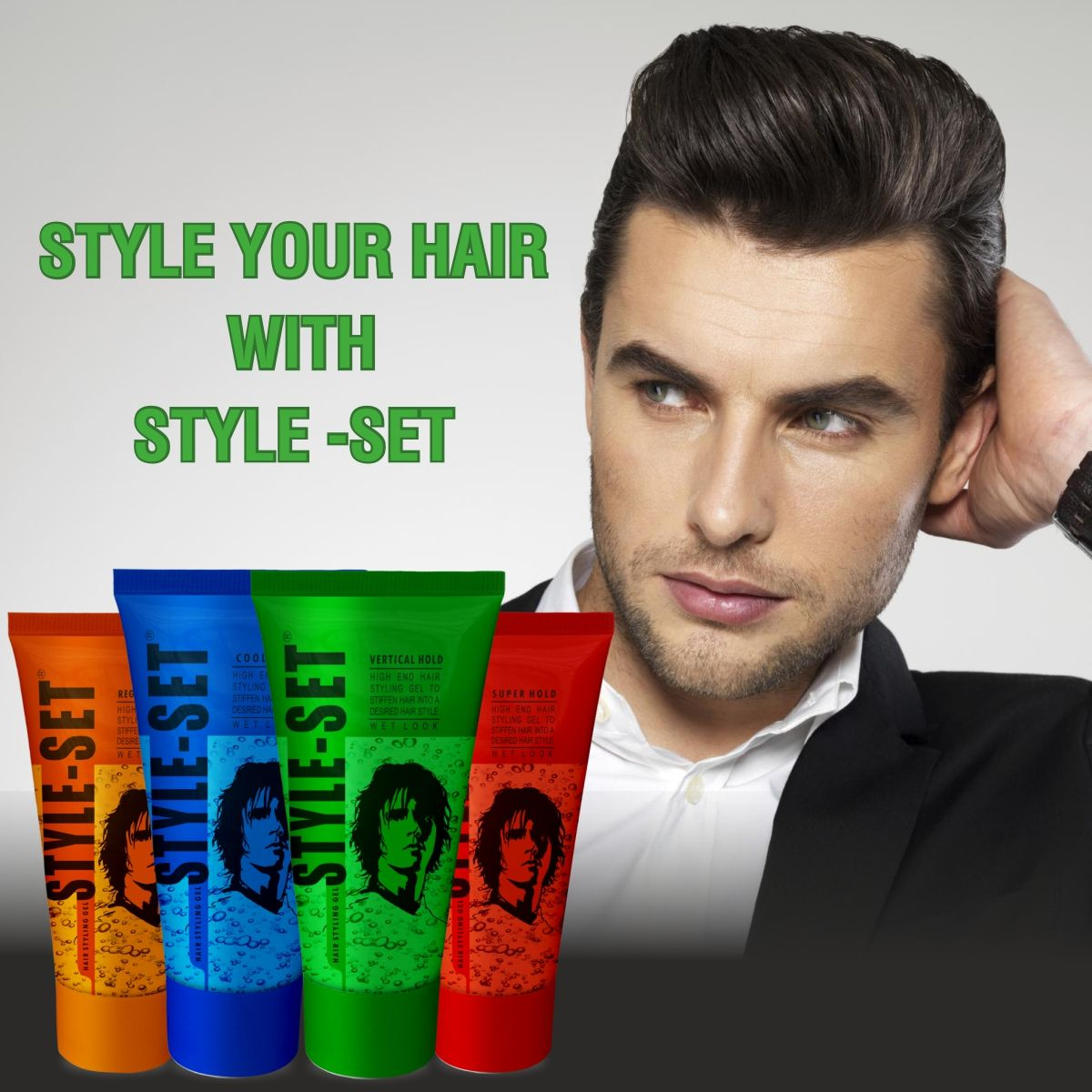 Hair Styling Gels For Men Vi John In 2020 Styling Gel Hair Gel For Men Hair Gel