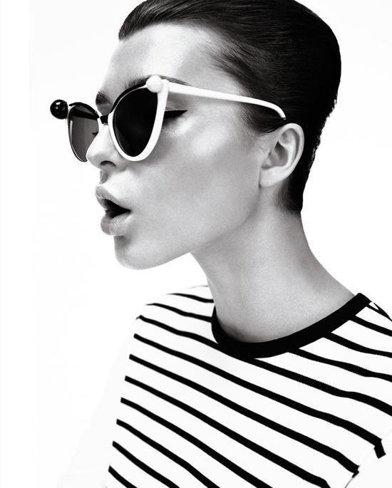 #gafas #anteojos #negro #blanco #rayas #vintage