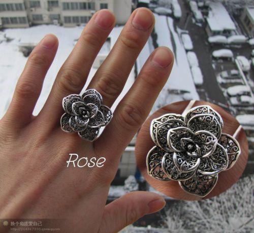Hot Fashion Jewelry Charm Flower Relent Ring 3 Type   eBay
