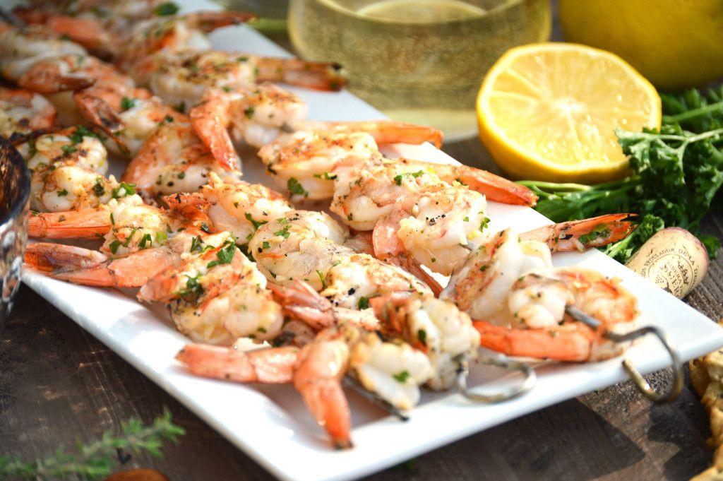 GRILLED GARLIC SHRIMP (GAMBAS AL AJILLO) WITH RIBERA Y RUEDA WINE  By: http://foodrhythms.com/whattheforkfoodblog