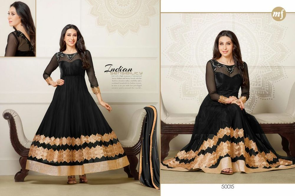 bollywood designer partywear anarkali traditional  salwar kameez krishma  dress