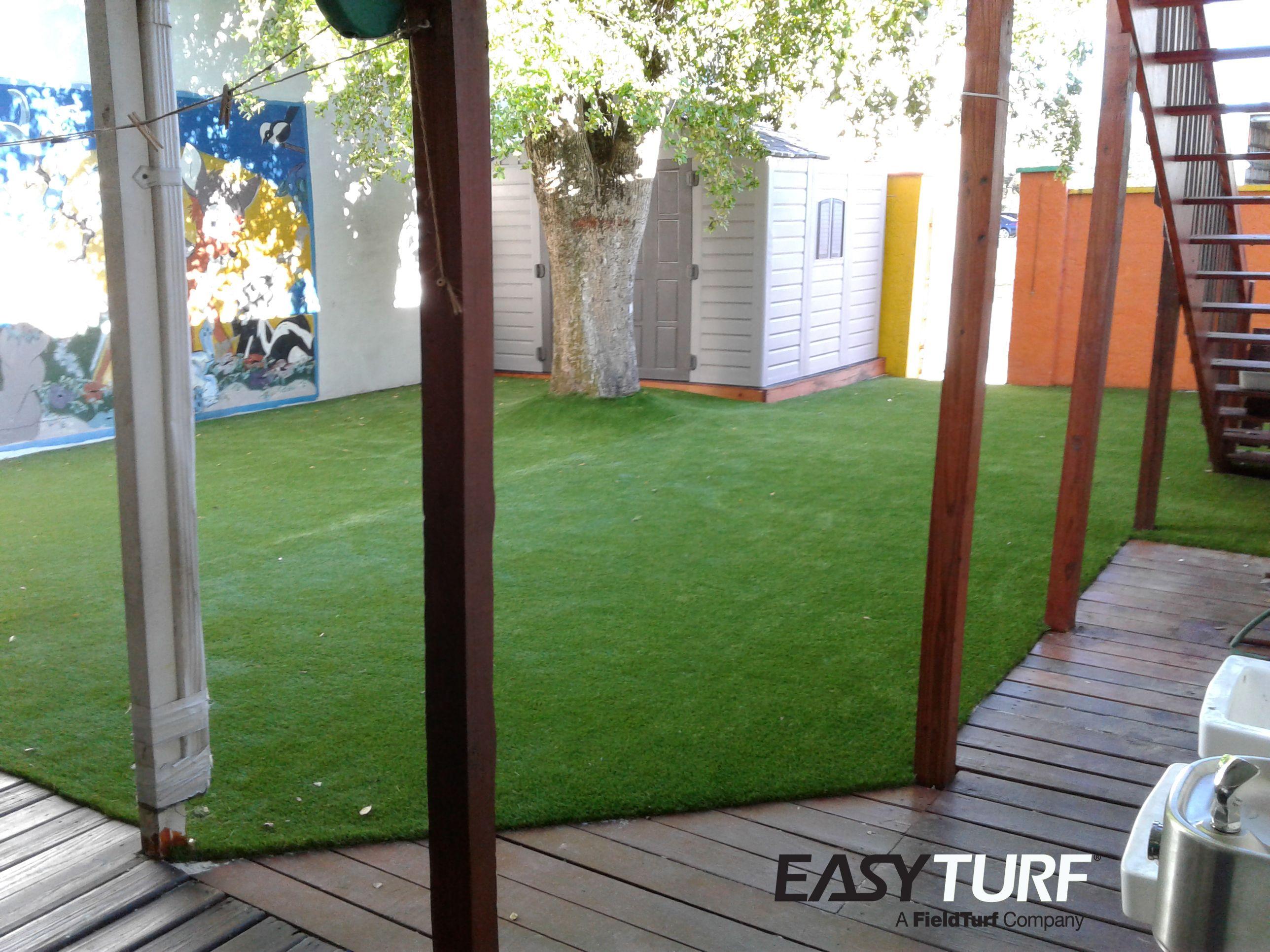 Artificial grass installation at preschool in fort meyers