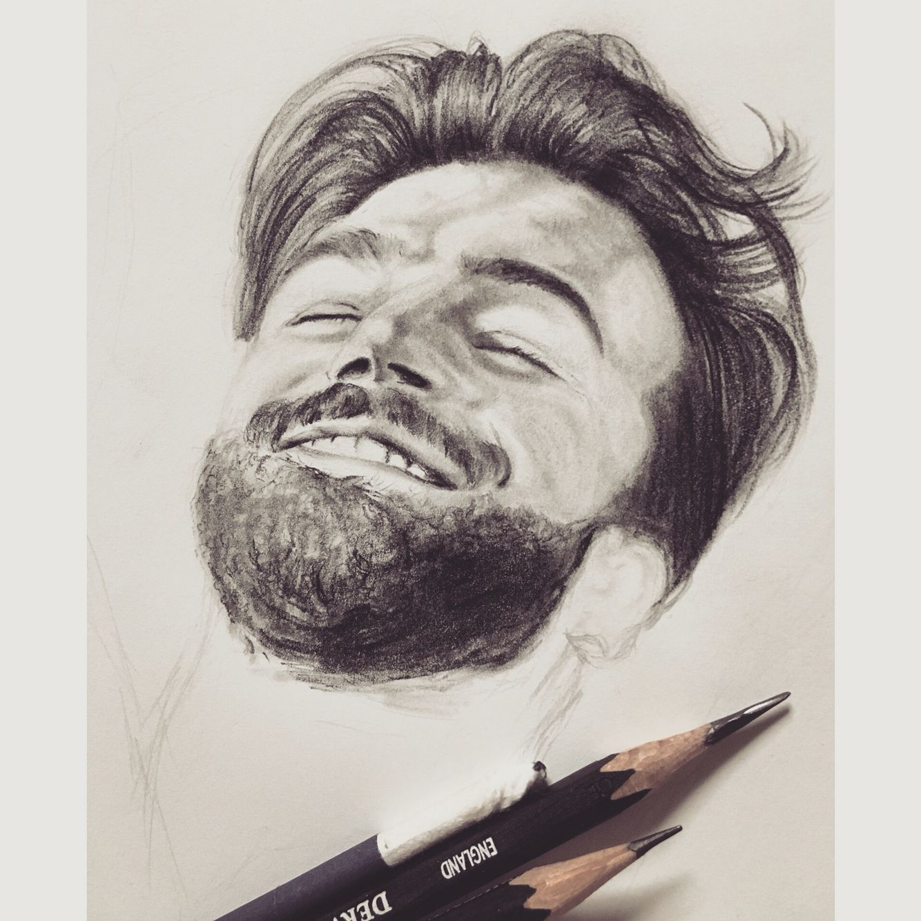 Man smile smile drawing smiling man sketching sketch sketches