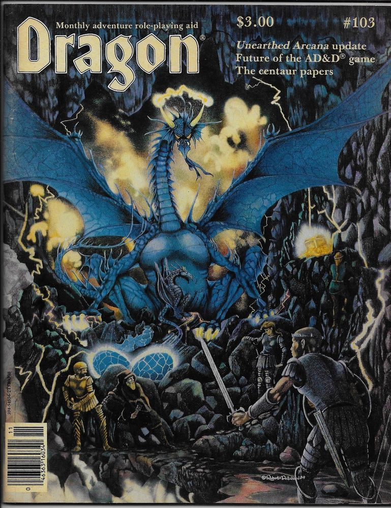 Dragon Magazine #103 TSR 1985 AD&D Unearthed Arcana Centaur