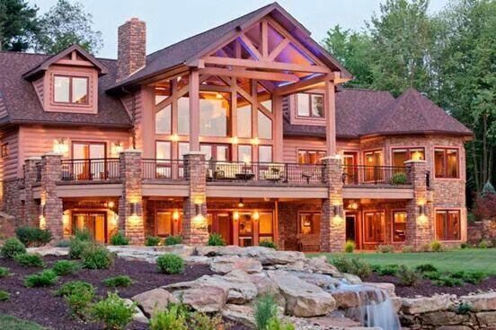 Dream Cabin More Like Dream Lodge Lol Log Cabin Homes Log Homes House Exterior