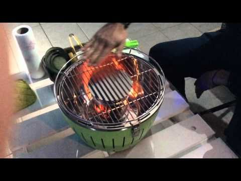 Cimber griller test del lotus grill - YouTube