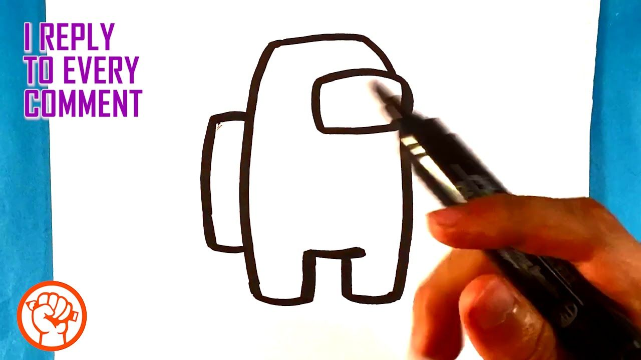 How To Draw Among Us Character Easy Pictures To Draw Pictures To Draw Easy Pictures To Draw Simple Pictures
