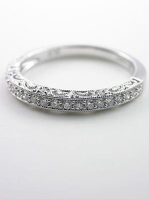 Paisley and Filigree Diamond Wedding Band RG 1747wbr Filigree