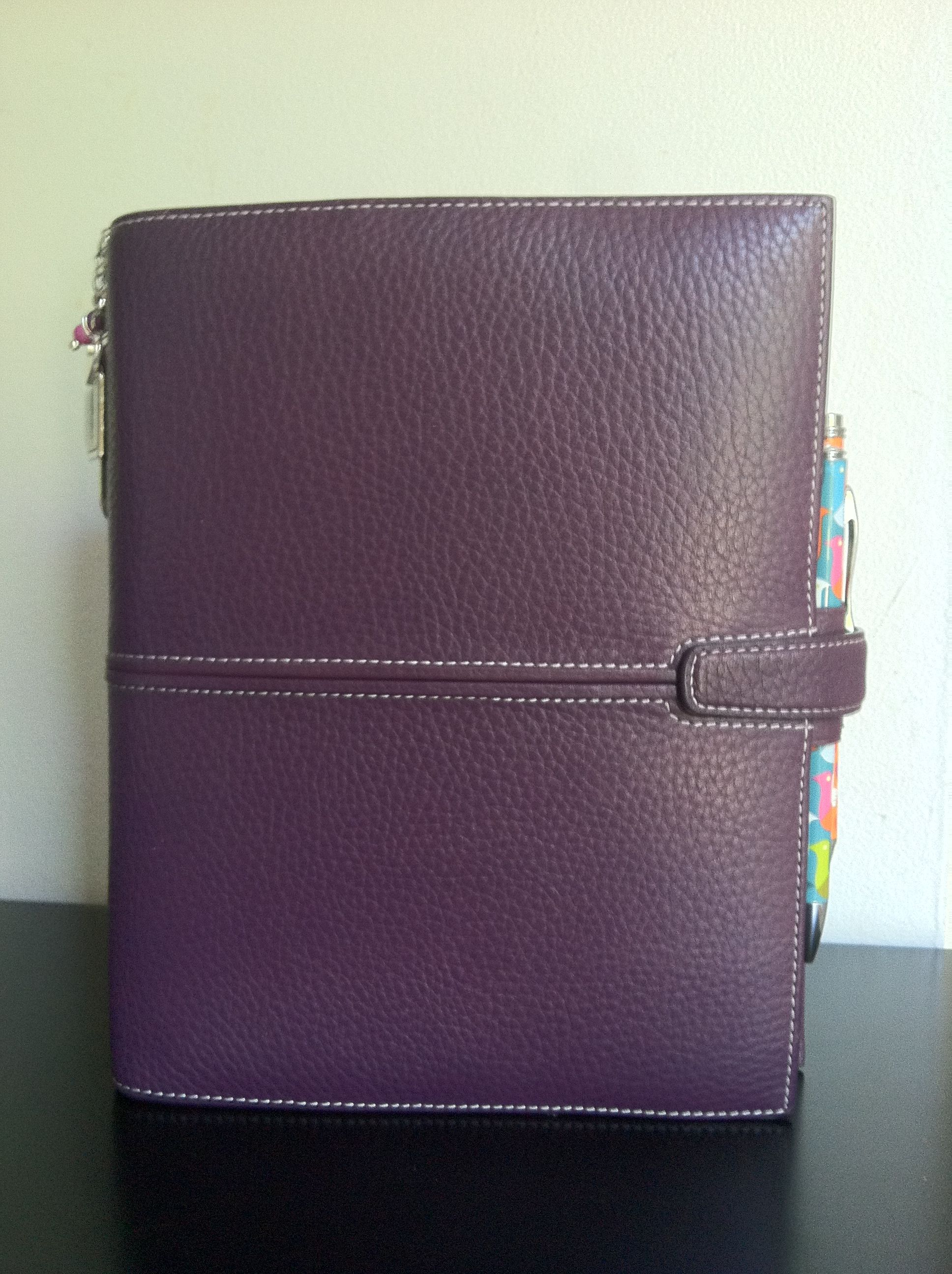 Challenge Day 1: planner cover - Filofax A5 Finchley, imperial purple