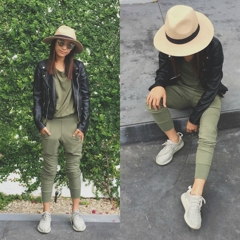 Indah Amelia - Yeezy Boost 350 Moonrock - Olive you