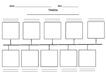 This General Timeline Template Can Be Used For Biography Studies