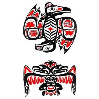 eagle raven haida tattoo tattoo ideas pinterest haida tattoo and tattoo. Black Bedroom Furniture Sets. Home Design Ideas