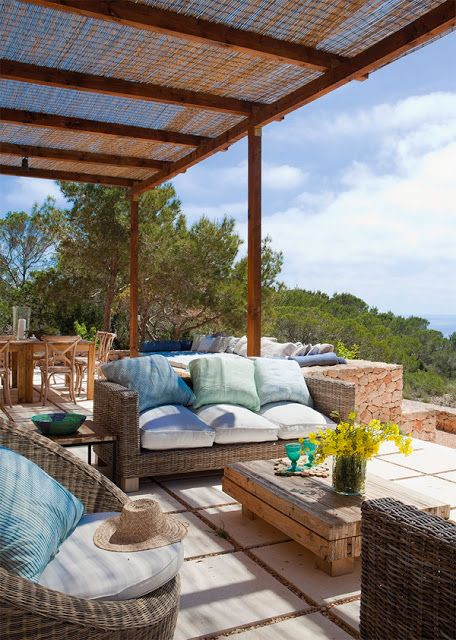 Terraza De Casa En Formentera Diseño Arquitectonico