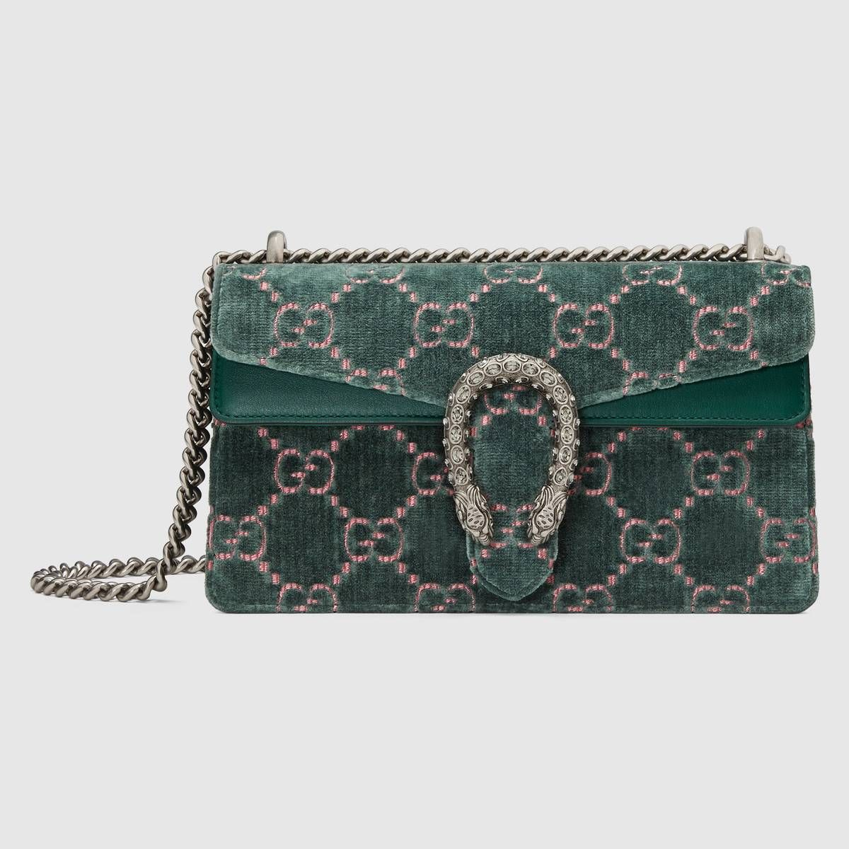 d875562a7a1d0 Dionysus GG velvet small shoulder bag in Blue GG velvet