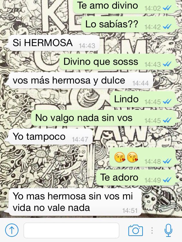 One Of 10000000 Chats With My Boyfriend Te Amo Vida Abrazos