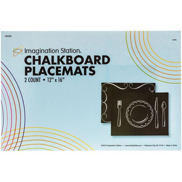 Black Chalkboard Placemats 12 X 16 Hobby Lobby 140350 Chalkboard Placemats Chalkboard Paint Crafts Black Chalkboard