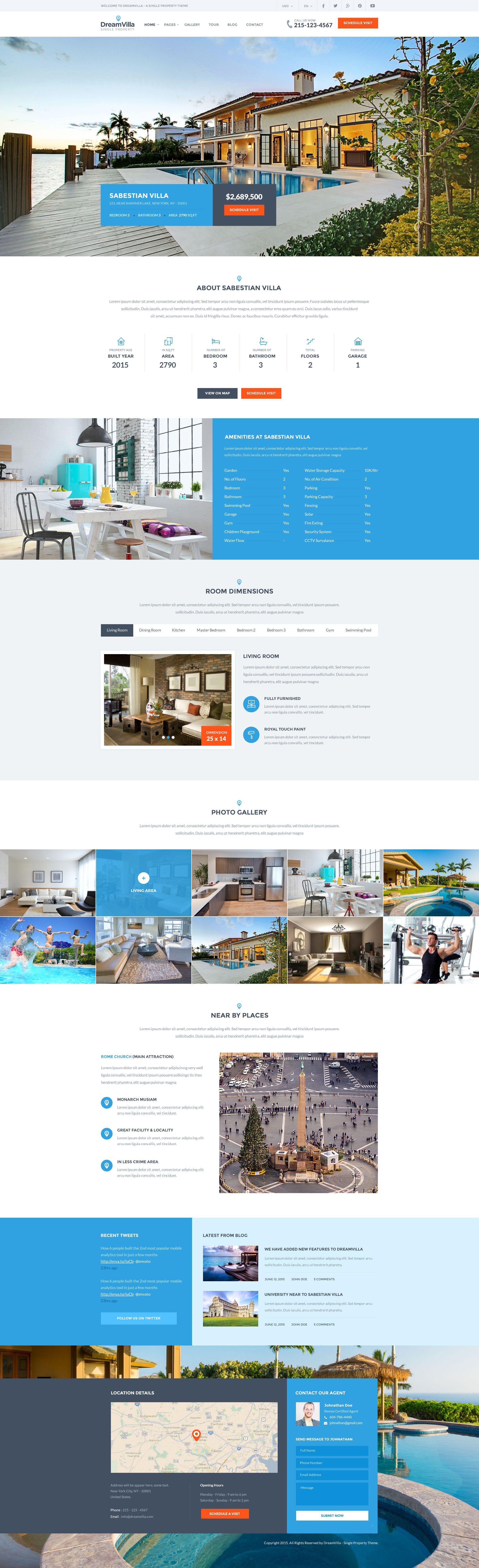DreamVilla Single Property HTML Template DreamVilla