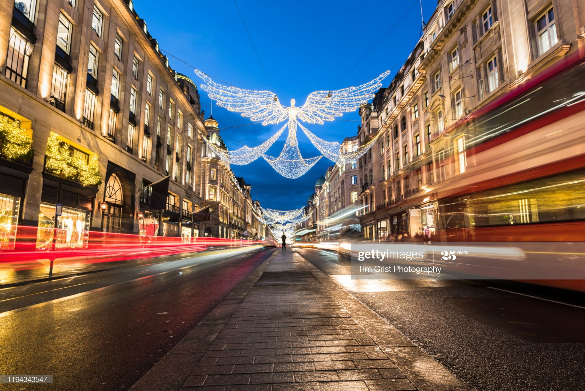 Stock Photo : Regent Street, London at Christmas, UK. #citybreak #angel