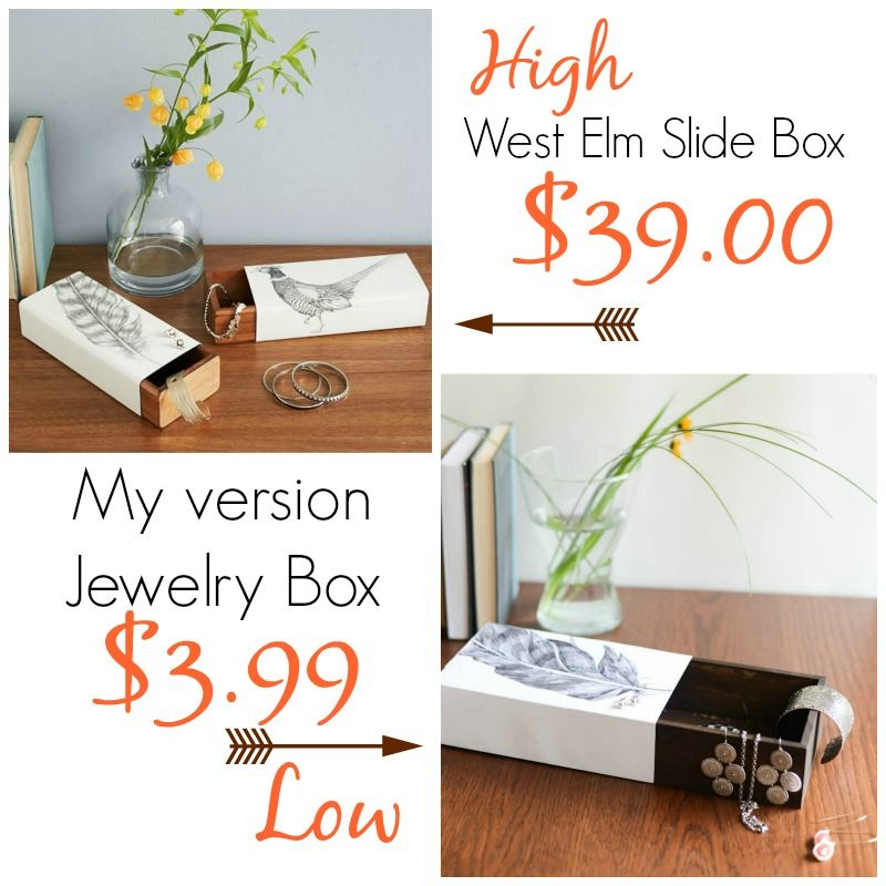 Jewelry Slide Box West Elm Knock Off by Place Of My Taste DIY