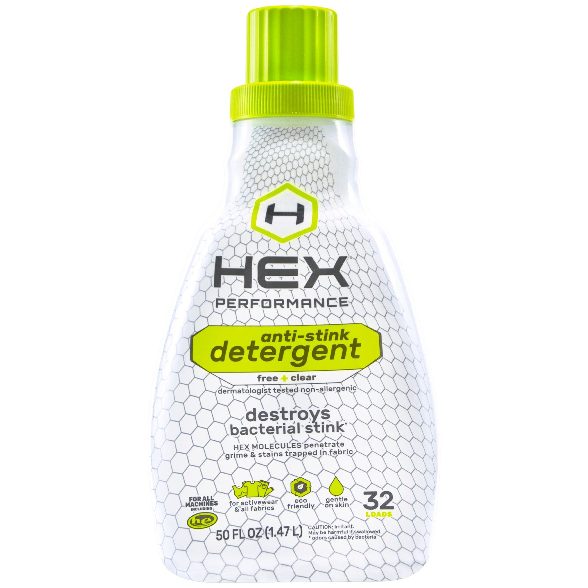 Hex Performance Anti Stink Free Clear Detergent 50oz Laundry