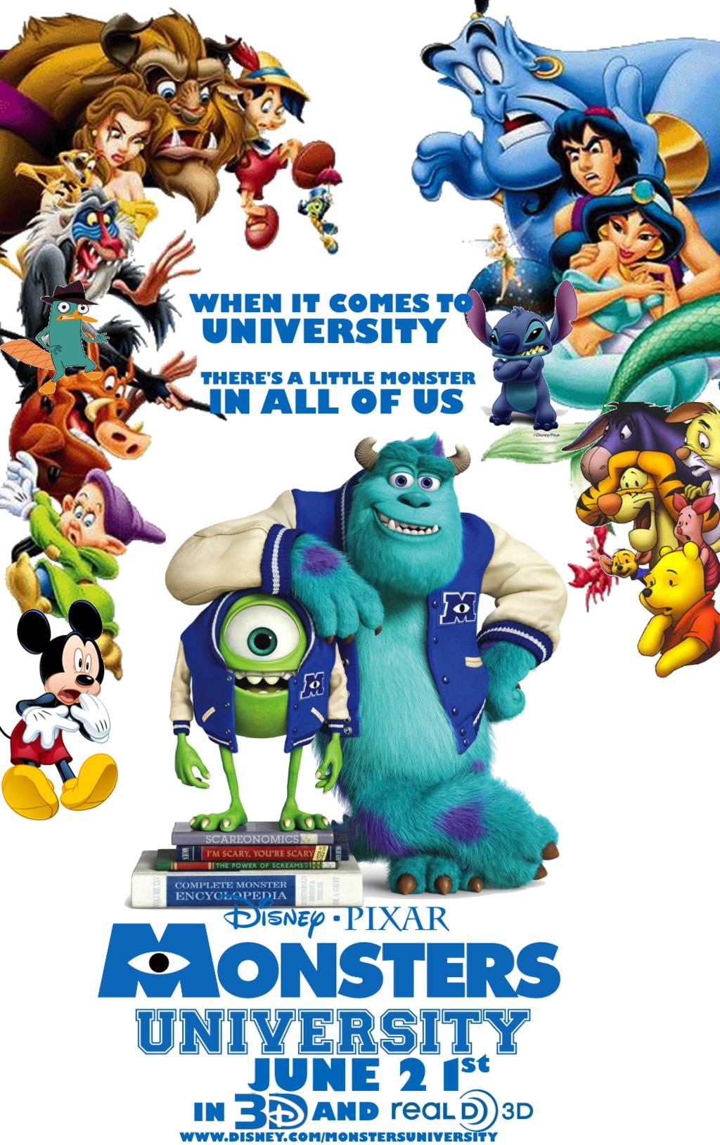 Disney Pixar Monsters University Disney Pixars Monsters University Poster My Own By Edogg8181804 On Monster University Pixar Disney Pixar