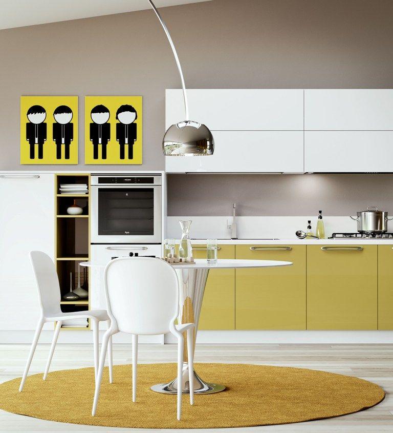 Quadri decorativi a sfondo giallo per impreziosire la for Stili arredamento interni