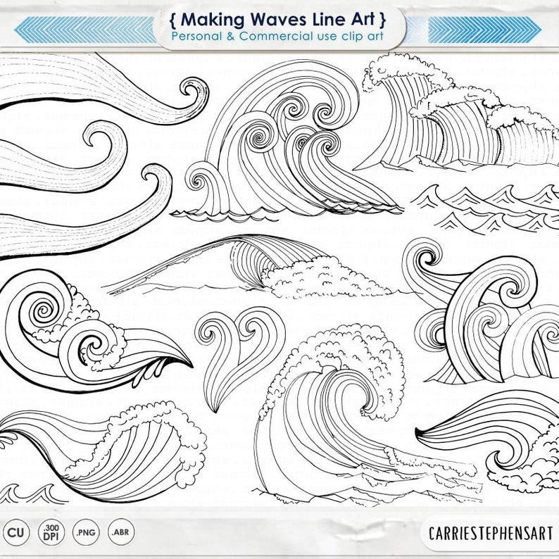 40+ Ocean Clipart Black And White