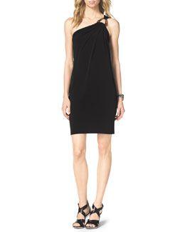 T7LJR MICHAEL Michael Kors One-Shoulder Jersey Dress