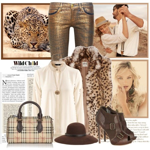 """Cheetah Gilet"" by cuteym on Polyvore"